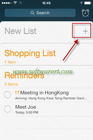 create new reminder list on iphone