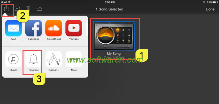 create ringtone using garageband on ipad