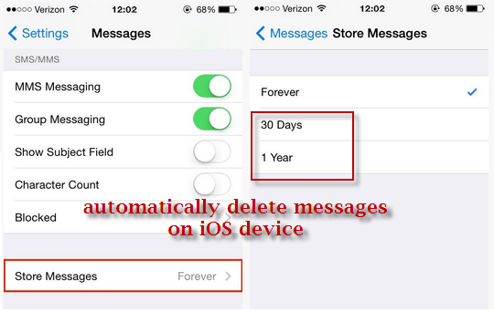 How to delete messages from my iphone