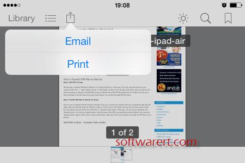 email pdf on ipad iphone