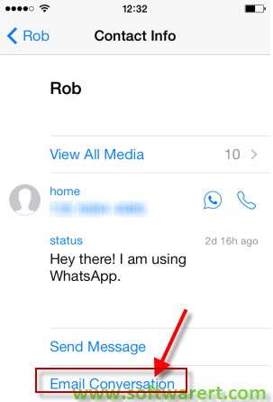 email whatsapp conversation on iphone