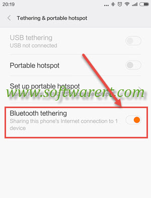 Share internet connection on Xiaomi Redmi via Bluetooth tethering