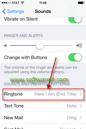 activate ringtone on iphone
