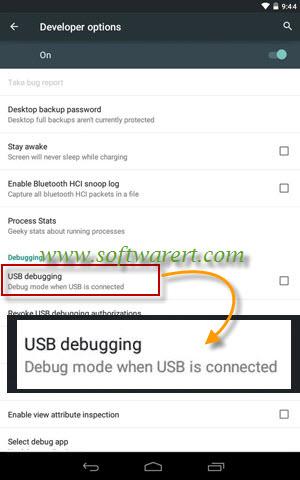enable usb debugging on Google nexus