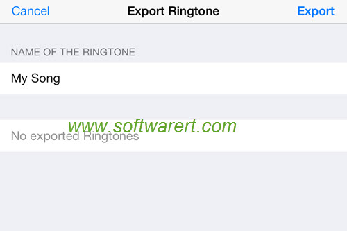 export ringtone from garageband to iphone