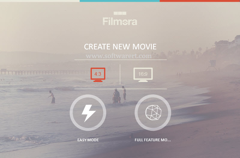 filmora movie creating modes