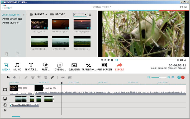 filmora video maker screenshot