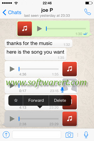 Save WhatsApp Music, Audios, Recordings on iPhone