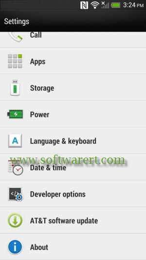 htc smartphone settings
