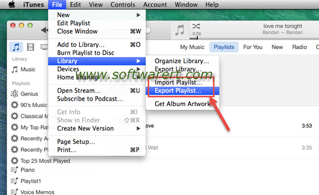 How to transfer itunes playlists from pc to mac