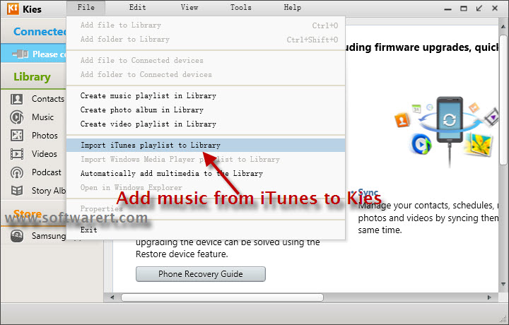 how to download imported music from itunes to computer