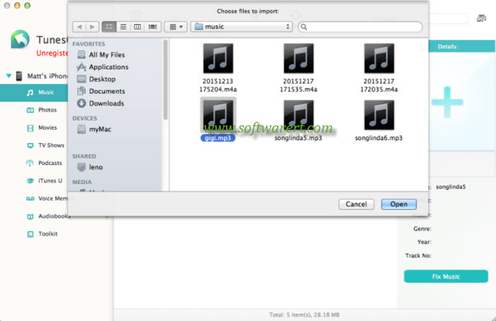 import music from mac to iphone using tunesgo