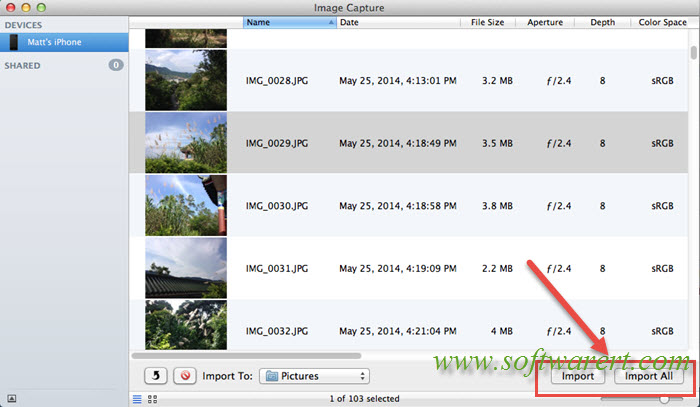 how to download pictures from iphone to mac computer