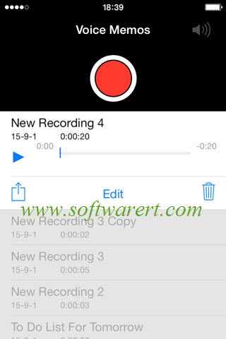 iphone voice memos recordings management options