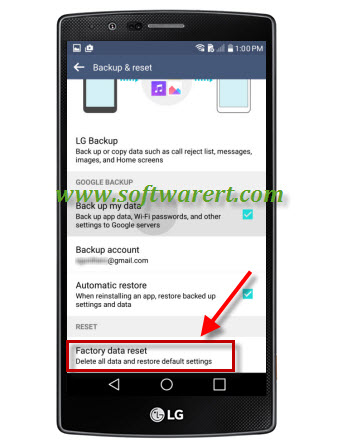 perform factory data reset on lg mobile phone