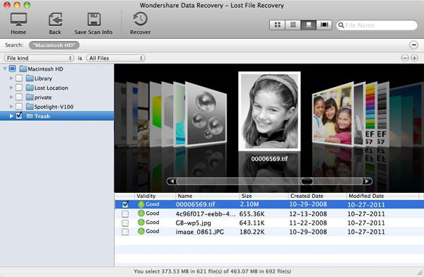 lost file preview and recover mac