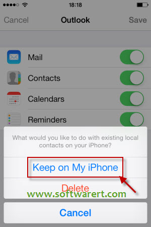 add hotmail contacts to iPhone