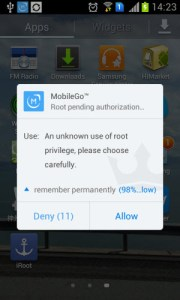 mobilego root pending authorization