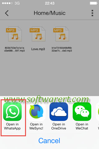 open music in whatsapp on iphone