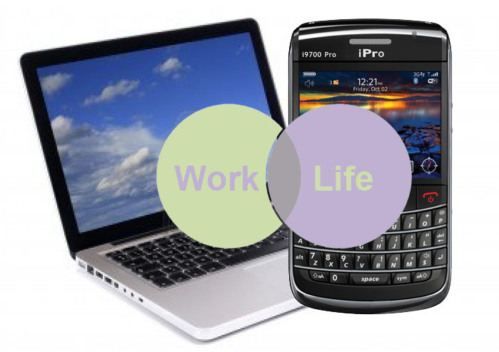 personal data on work laptop and mobile phone
