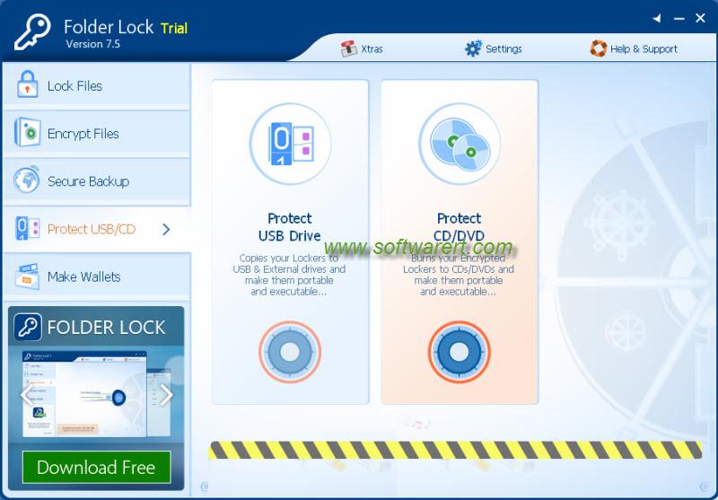 protect data on usb cd dvd using folder lock
