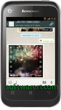 receive videos on android using whatsapp