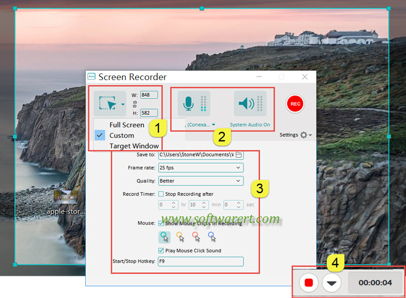 record screen on pc using filmora