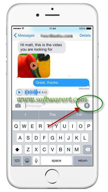 record and send voice messages on iphone