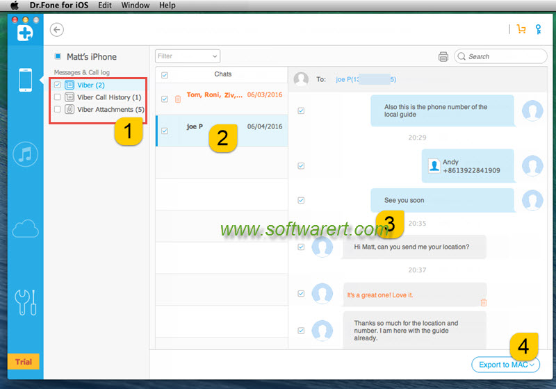 recover deleted viber chats from iphone to mac