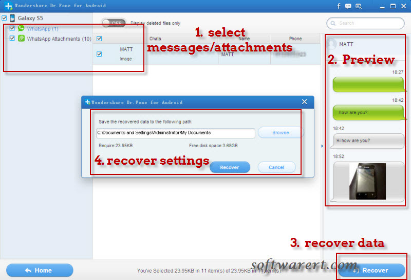recover deleted whatsapp messages attachments on android mobile