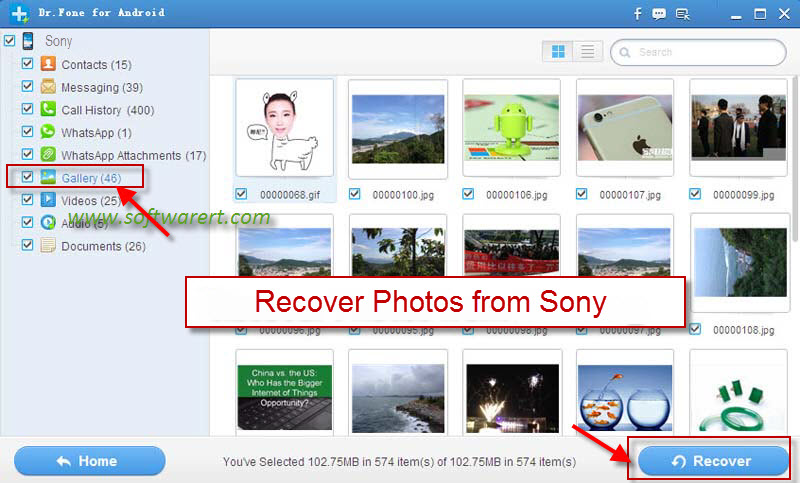 recover deleted photos from sony mobile phone