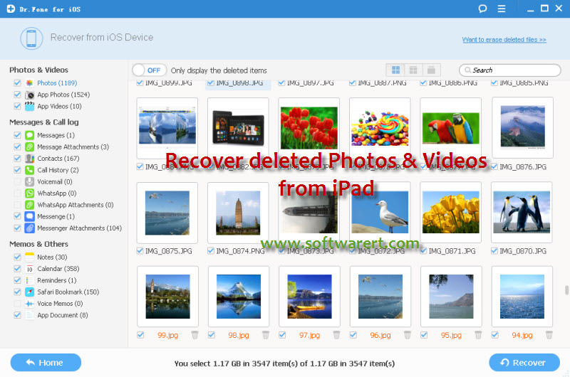 recover deleted photos videos from ipad mini