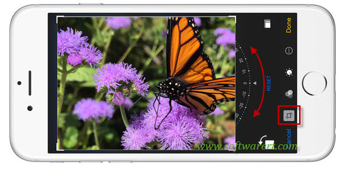 rotate photo on iphone ipad ios8