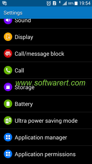 samsung phone settings storage