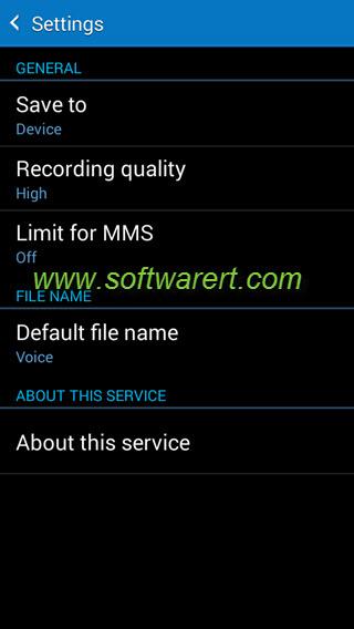 samsung phone voice recorder app settings