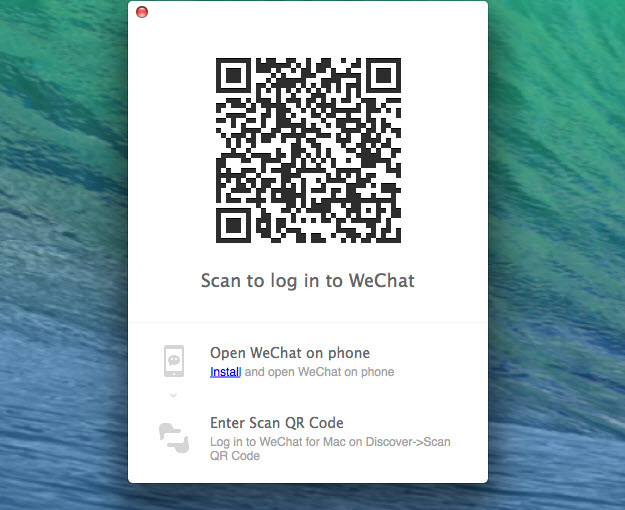scan to login to wechat on mac