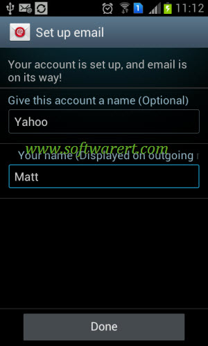 add yahoo email account to samsung mobile