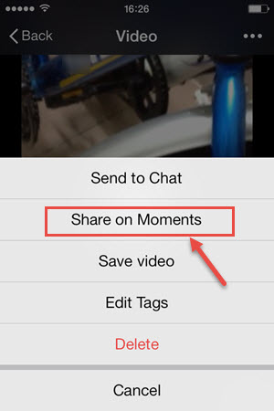 How to Upload Video to WeChat Moments?