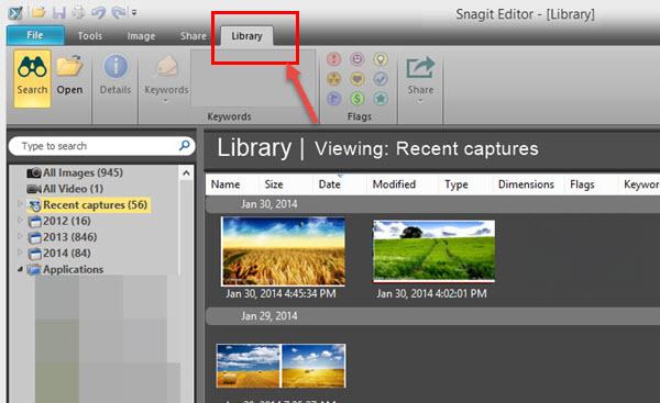 snagit editor library