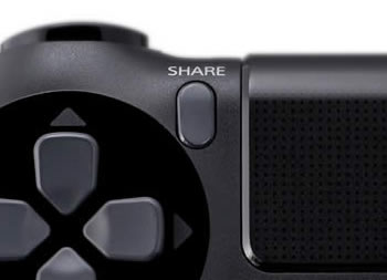 sony playstation 4 share button
