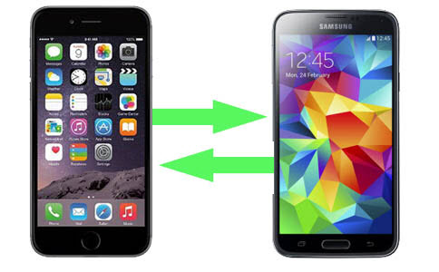 swap contacts between iphone and samsung
