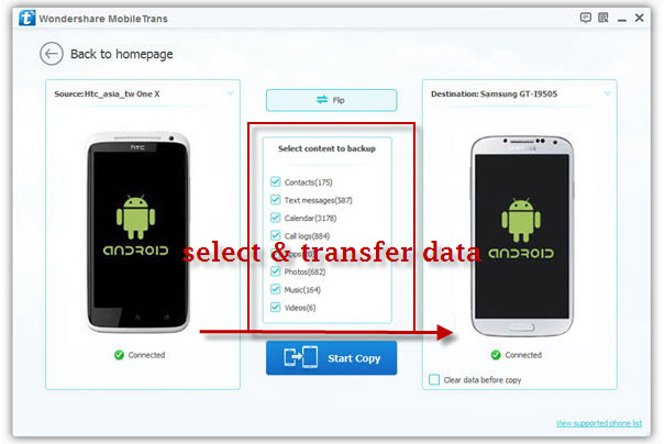 transfer contacts android to android