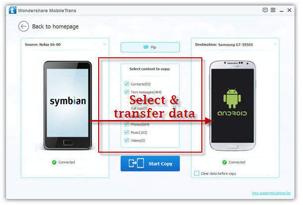 transfer contacts from Nokia to Android phones