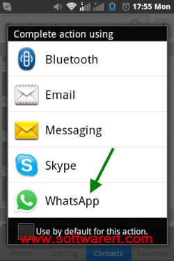 transfer contacts through whatsapp on android