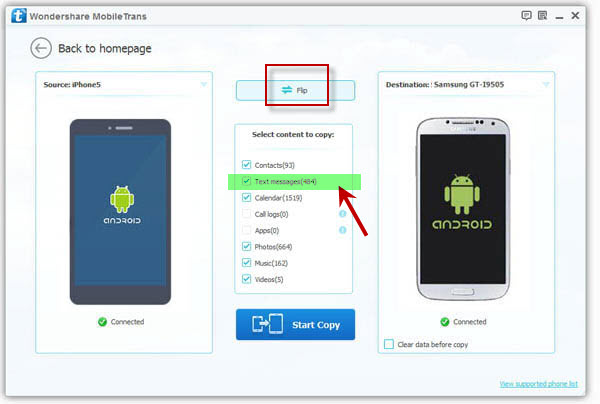 Transfer Text Messages from HTC to Samsung