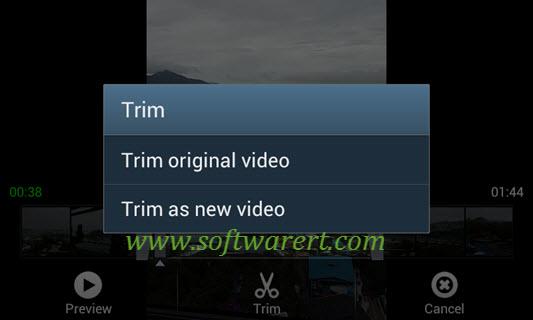 trim original video vs trim as new video on samsung mobile phone