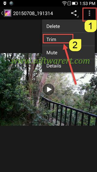 trim video on lenovo mobile phone