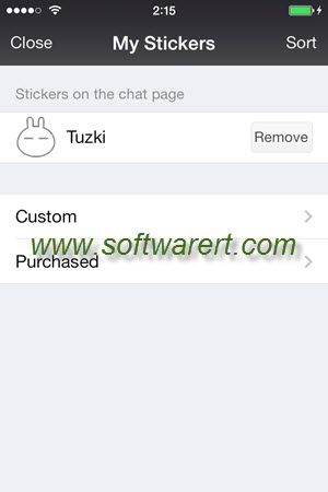 manage my stickers in wechat for iPhone