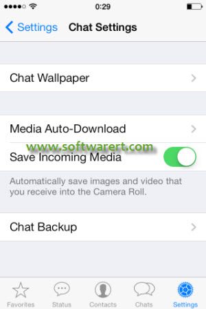 whatsapp chat settings on iphone