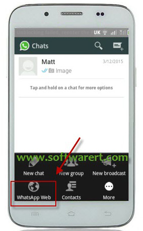 activate whatsapp web on android phone
